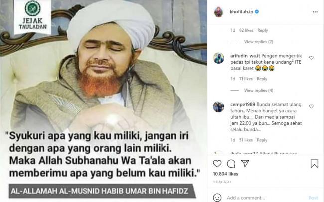 Postingan Instagram Khofifah 2