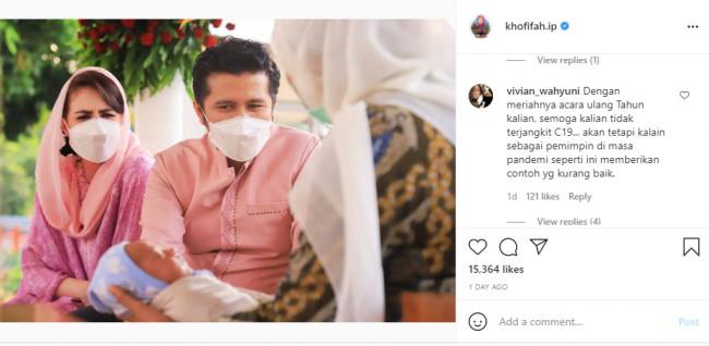 Postingan Instagram Khofifah