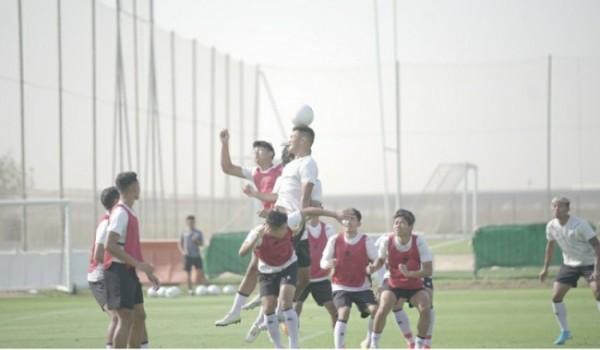 Skuad Garuda lakukan latihan di JA (Jebel Ali) Sports Center and Shooting Club, Dubai, Uni Emirat Arab, Sabtu (22/5/2021) kemarin. (Foto istimewa)
