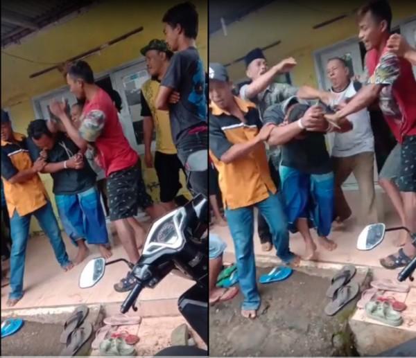 Guru SD di Pasuruan saat diamankan petugas Polres Pasuruan. (Foto: Tangkapan Layar)
