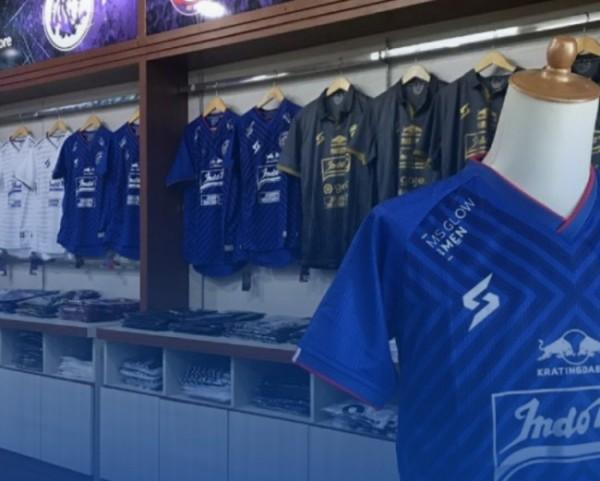 Jersey baru Arema FC (foto istimewa)