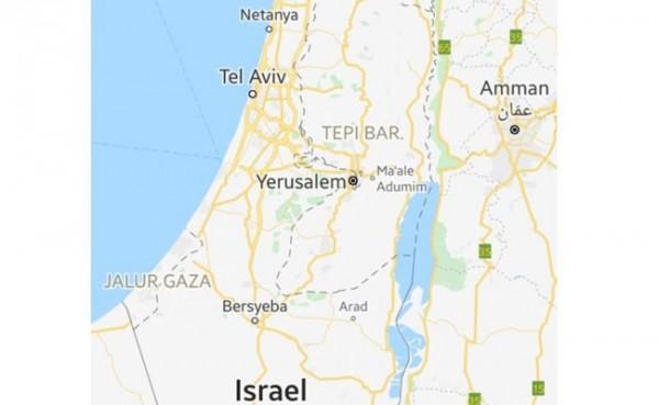 Google Maps tak pasang label Palestina (Foto: Google Maps)