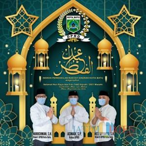 Dewan Kota Batu Sampaikan Selamat Hari Raya Idul Fitri 1442 Hijriah/2021 Masehi, Mohon Maaf Lahir Batin