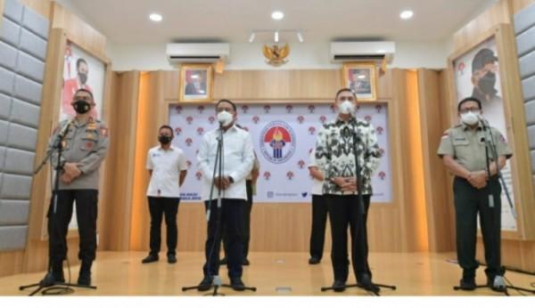 PSSI dan Menpora rapat koordinasi persiapan kompetisi Liga 1 dan 2 tahun 2021di kantor Kemenpora, Jakarta, Senin (24/5/2021) kemarin. (Foto istimewa)