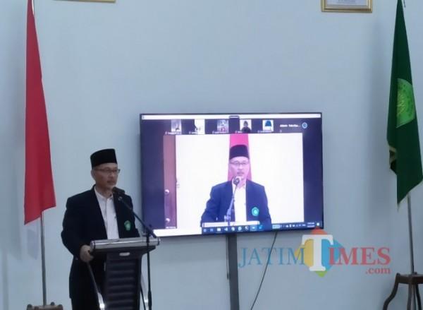 Rektor UIN Maliki Malang Prof Abdul Haris (Anggara Sudiongko/MalangTIMES)