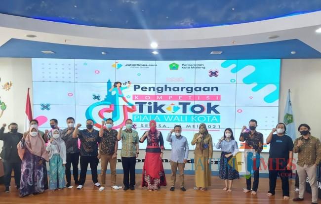 Suasana penghargaan Kompetisi TikTok Piala Wali Kota Malang 2021 di NCC Balai Kota Malang, Selasa (25/5/2021). (Tubagus Achmad/MalangTIMES).