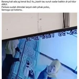 Aksi Seorang Wanita Terekam CCTV saat Mencuri Emas di Madiun