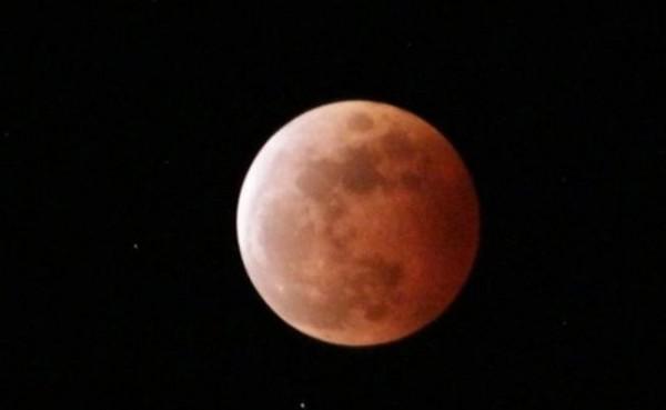 Gerhana bulan total (Foto: BMKG)