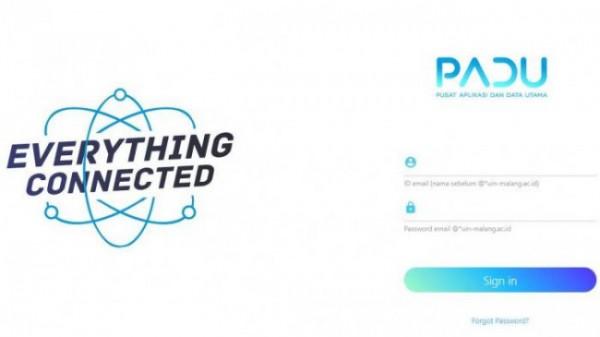 Tampilan awal Aplikasi PADU (Ist)