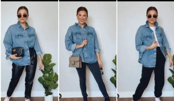 Tips kenakan denim menjadi 3 outfit berbeda. (Foto: Instagram @fustany).