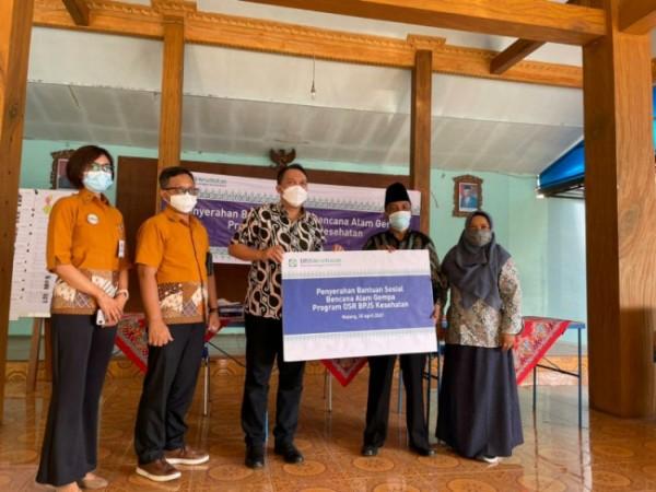 BPJS Kesehatan salurkan bantuan sembako bagi korban gempa di Kabupaten Malang