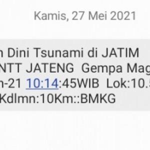 Masyarakat Diimbau Tenang, Peringatan Gempa 8,5 SR Lewat SMS adalah Hoaks