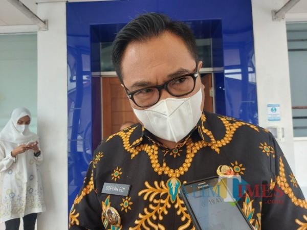 Wakil Wali Kota Malang Sofyan Edi Jarwoko usai menghadiri rapat koordinasi dengan jajaran kementerian terkait persiapan penerapan OSS RBA di Kota Malang, Jumat (28/5/2021). (Foto: Humas Pemkot Malang)