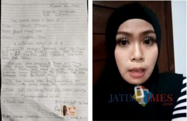 Ini wajah wanita yang berani sebut Bupati Lumajang berkiblat ke PKI (Foto : Moch. R. Abdul Fatah / Jatim TIMES)
