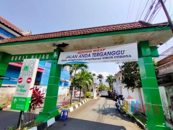 Ilustrasi gapura Perumahan Permata Hijau dan Bukit Hijau, Kelurahan Tlogomas, Kecamatan Lowokwaru, Kota Malang. (Foto: Tubagus Achmad/ MalangTIMES)