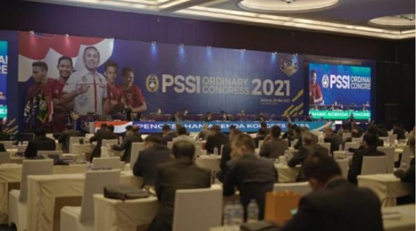 Kongres PSSI yang digelar di Hotel Raffles, Jakarta, Sabtu (29/5/2021) kemarin, (foto istimewa)