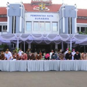 Hari Jadi Kota Surabaya, Wali Kota Lakukan MoU dengan 15 Stakeholder