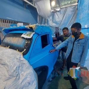 Mesin Asli Oplet Si Doel dan Replika Oplet Segera Terpampang di Museum Motor Klasik SMK NMC Malang