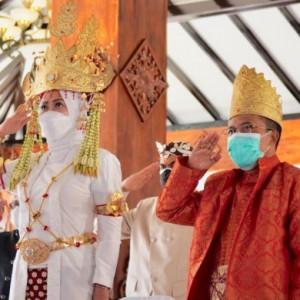 Peringatan Hari Lahir Pancasila Dewanti Kenakan Pakaian Adat Lampung, Agar Pemuda Tahu