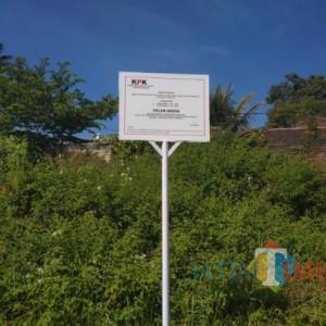 Heboh, KPK RI Pasang Plang Papan Sitaan Aset Tanah di Jalan Sultan Agung Kota Batu