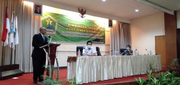 Kegiatan Bimtek Manajemen Koperasi Tahun 2021 yang digelar oleh Dinas Koperasi, Perindustrian, dan Perdagangan (Diskopindag) Kota Malang, Rabu (2/6/2021). (Foto: Humas Pemkot Malang for MalangTIMES).