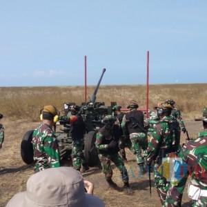Korps Arhanud Latih Pertahanan Udara Terintegrasi Dengan Senjata Berat di AWR Lumajang