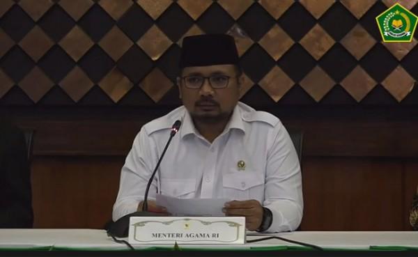 Menteri Agama Yaqut Cholil Qoumas (Foto: YouTube Kemenag RI)