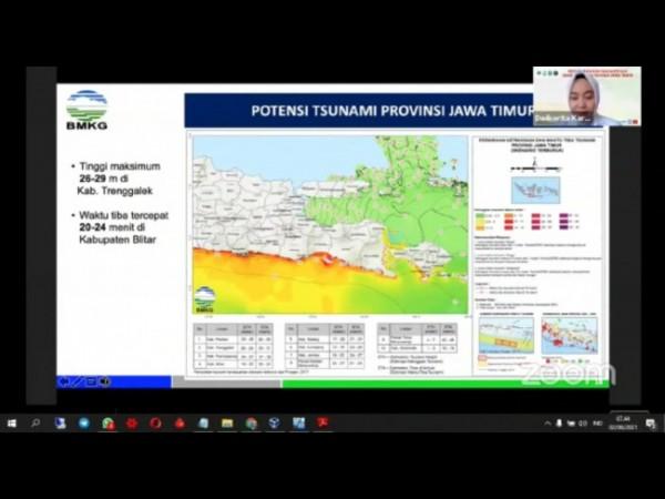 Webinar tentang potensi tsunami oleh BMKG (foto: screenshot webinar)
