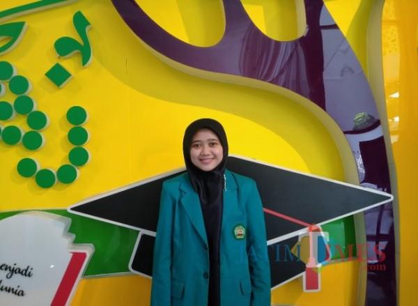 Minatul Aini, Mahasiswi Program Studi Profesi Dokter Universitas Islam Malang (Unisma) menjadi lulusan terbaik pada wisuda semester ganjil tahun akademik 2020/2021 (Anggara Sudiongko/MalangTIMES)