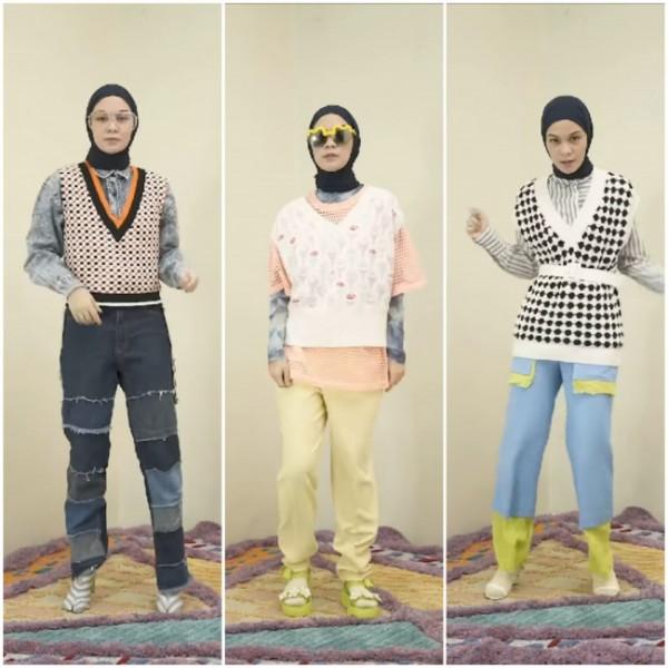 Tampil beda dengan styling vest ala influencer Tantri Namirah. (Foto: Instagram @tantrinamirah).
