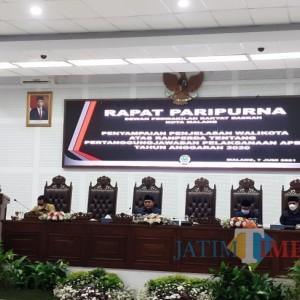 Di Hadapan DPRD Kota Malang, Wali Kota Sutiaji Beber Audit BPK di Laporan Pertanggungjawaban APBD 2020