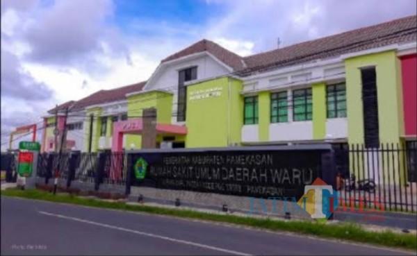 Rumah Sakit Umum Daerah (RSUD) Waru Kabupaten Pamekasan tampak depan (Foto: Ist/ Jatimtimes.com)