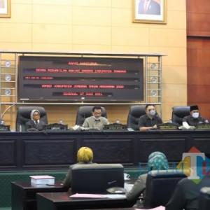 Pertanggungjawaban APBD 2020, Penerimaan Pembiayaan Kabupaten Jombang Capai 96 Persen