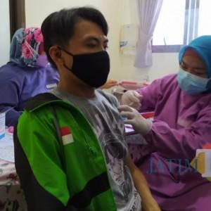Ratusan Driver Ojol di Kota Malang Kembali Jalani Vaksinasi Covid-19