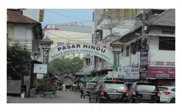 Pasar Hindu Medan (Foto: SeMedan.com)