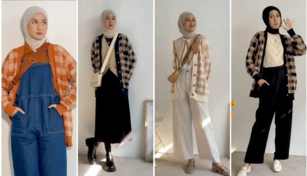 Tampil lebih modis dengan knit cardigan bermotif. (Foto: Instagram @inasrana).