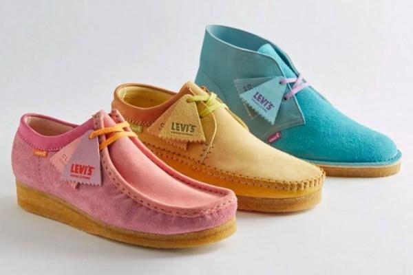 Fresh, kolaborasi sepatu ikonik Clarks dengan Levi's. (Foto: Levi's).