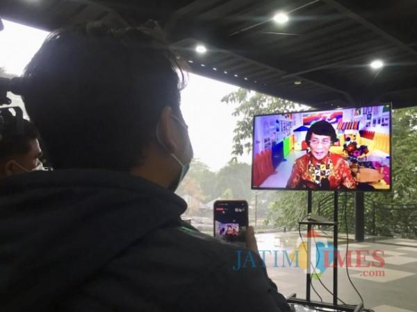 Kak Seto saat melakukan live secara virtual di Sekolah Selamat Pagi Indonesia (SPI), Kamis (10/6/2021). (Foto: Irsya Richa/MalangTIMES)