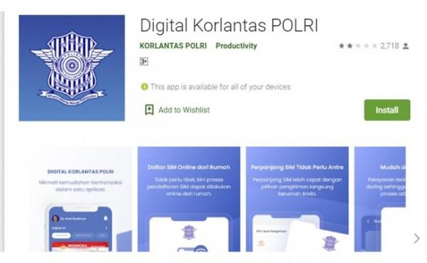 Perpanjangan SIM online (Foto: Play Store)