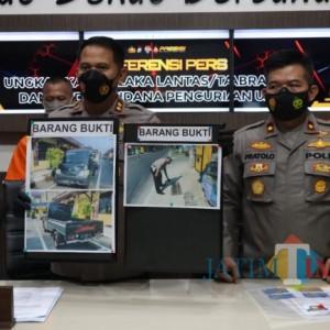 Berbekal Plat Nomor Kendaraan Tertinggal di TKP, Polres Blitar Kota Tangkap Pelaku Tabrak Lari