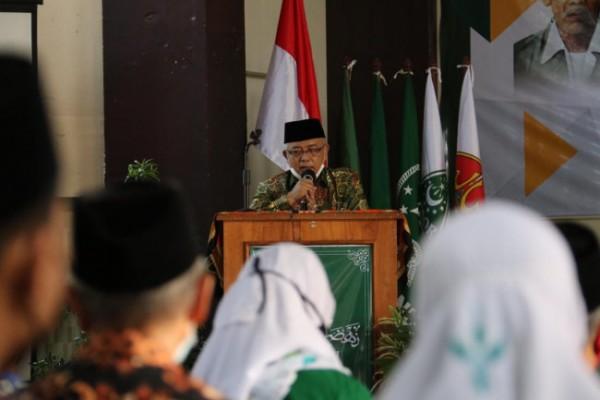 Bupati Malang HM Sanusi saat memberikan sambutan. (foto: Humas Pemkab Malang for MalangTIMES)