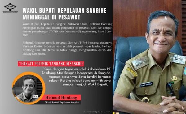 Wabup Helmud Hontong meninggal dunia (Foto: Instagram)