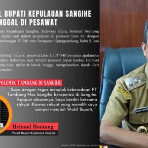 Mengenang Wabup Sangihe Helmud Hontong, Tolak Tambang Emas hingga Wafat di Pesawat