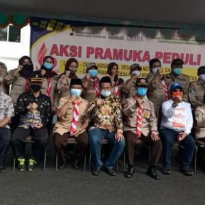 80 Anggota Pramuka Kota Malang Jalani Misi Sosial ke Dampit, Pemkot hingga Dewan Beri Support
