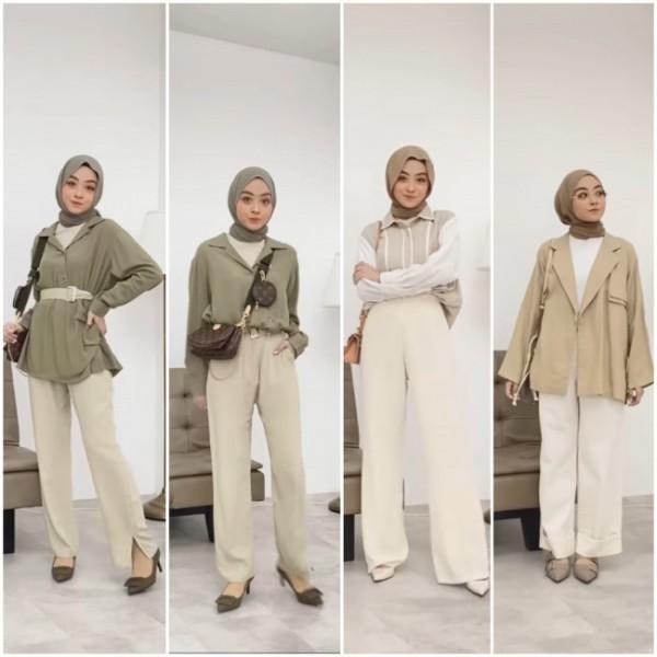Outfit formal kekinian ala hijabers. (Foto: Instagram @meiraniap).