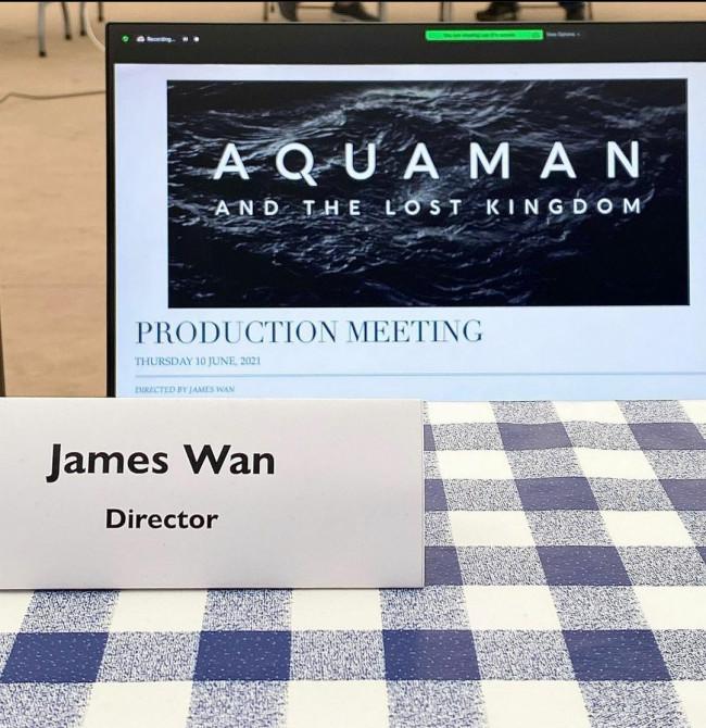 Postingan sutrada James Wan terkait sekuel Aquaman. (Foto: Instagram @creepypuppet).