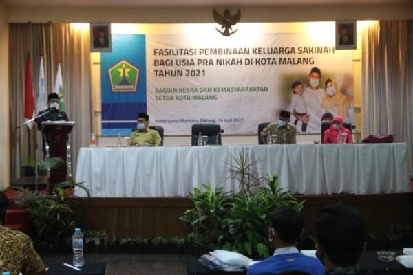 Sosialisasi Fasilitasi Pembinaan Keluarga Sakinah bagi Usia Pra Nikah, di Sahid Montana Hotel, Senin (14/6/2021). (Humas Pemkot Malang for MalangTIMES).