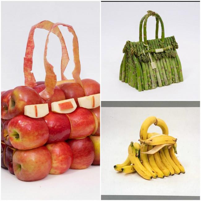Tas Hermes 'Birkin' dari sayur dan buah. (Foto: Instagram @bdenzer).