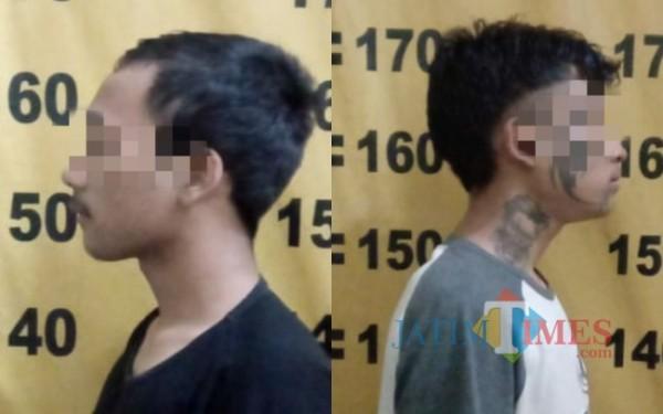 Dua pelaku diamankan di Polsek Tulungagung Kota. (Foto: Dokpol)
