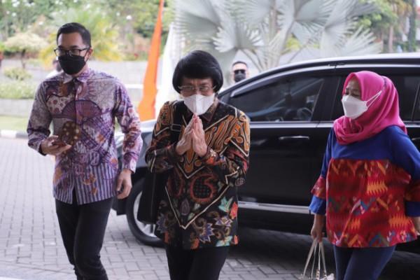 Ketua Umum LPAI Seto Mulyadi saat hadir di Balai Kota Among Tani.